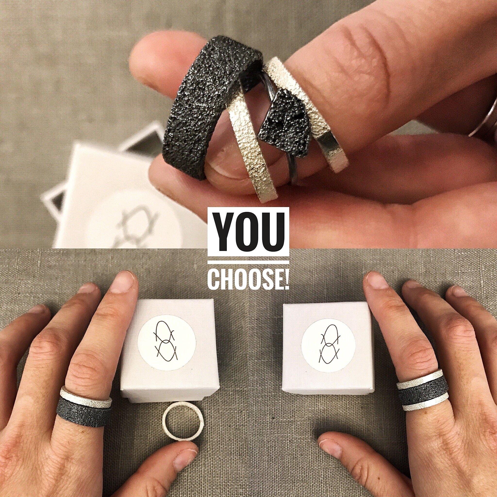 anillos de plata de diseño